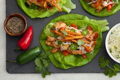 Southwestern Chicken Lettuce Wraps with Crispy Sweet Potato Straws from the eMeals Clean Eating plan