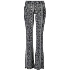 Ellen trousers (€15) ❤ liked on Polyvore featuring pants, black flare pants, black pants, flared trousers, black trousers and lightweight pants
