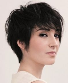 Short messy pixie haircut with choppy bangs