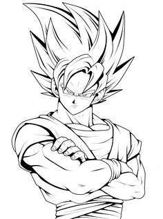 Coloriage Dragon Ball Z Sangoku Super Sayen 3 Goku Zeichnungen