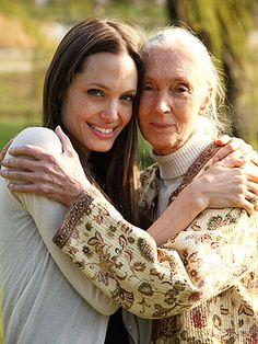 Two inspiring women, beautiful souls - Angelina Jolie & Jane Goodall