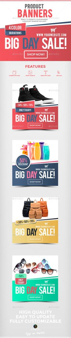 Buy Product Retail Banners by ConectoStudio on GraphicRiver. Product Retail Banners Promote your Business with this easy to customize Banners Set. Ready for Special Offers, Sales. Web Design, Flyer Design, Creative Design, Layout Design, Sale Banner, Web Banner, Banner Design Inspiration, Instagram Banner, Social Media Design