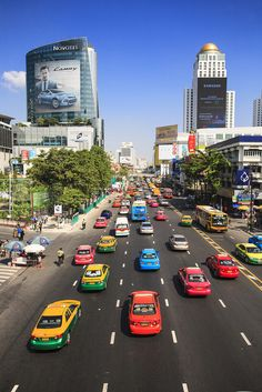 Colorful taxis | Bangkok, Thailand