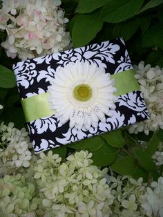 Dandy Damask Black and White Guest Book With by creations4brides, $30.00