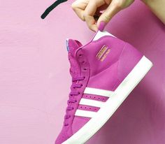 Trendy Womens Sneakers 2017/ 2018 : adidas Originals Basket Profi W-Vivid Pink-White Vapour-Metallic Gold #sneakers