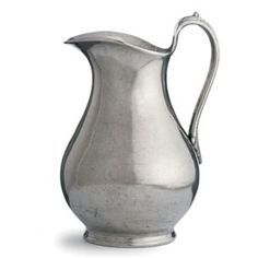 "Arte Italica Cypress Large Pitcher. Hand-finished in pewter. 11""h x 7.5""d.  Arte Italica pewter is 95% tin, which means it is the highest possible quality of pewter."