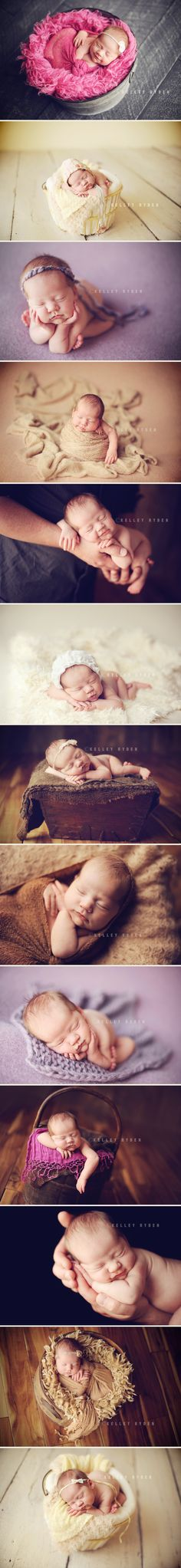 newborn girl styling and posing-- oh my goodness I love babies