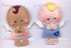 Anjinhos by Amor ponto por ponto - lembrancinhas em feltro, via Flickr