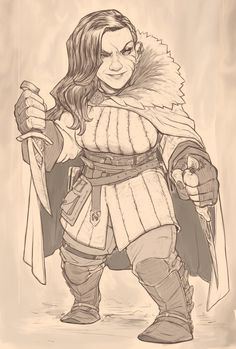 "we-are-rogue: "" Female Dwarf Rogue by Tuncer Eren """