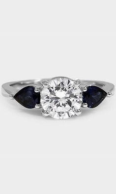 classically styled three stone ring