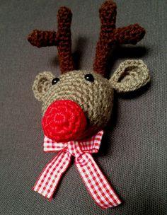 Leuk gratis haakpatroon (nederlands) voor kerst rendier Rudolf. Kneutsel: Kleine Kerst Kneutsel