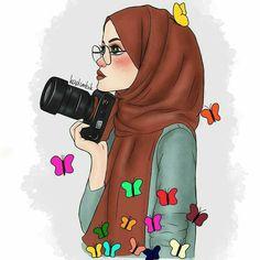 Illustrations and posters on share sunday 1 Hijabi Girl, Girl Hijab, Muslim Girls, Muslim Women, Cartoon Sketches, Cartoon Art, Fashion Sketchbook, Fashion Sketches, Clique Art