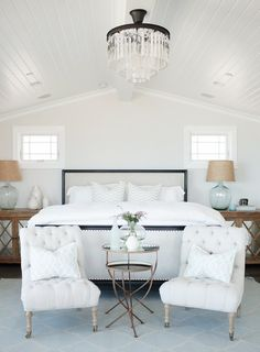 I love this master bedroom! The entire home is beautiful! House of Turquoise: Becki Owens Design Bedroom Seating, Bedroom Inspirations, Beautiful Bedrooms, Interior Design, Home, Remodel Bedroom, Interior, Coastal Bedrooms, Master Bedrooms Decor