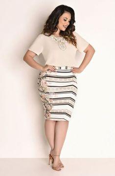 Curvy Girl Lingerie, Curvy Girl Fashion, Diva Fashion, 50 Fashion, Modest Fashion, Plus Size Fashion, Fashion Outfits, Cute Skirt Outfits, Cute Skirts