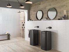 Interiores FULL of COLOURS: propuestas de baños y cocinas que vibran a todo color | Noken White Bathroom, Modern Bathroom, Master Bathroom, Bathroom Trends, Bathroom Kids, Beautiful Bathrooms, Colorful Interior Design, Colorful Interiors, Modern Design
