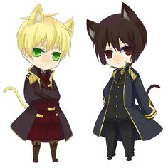Hetalia kitties. England and Japan