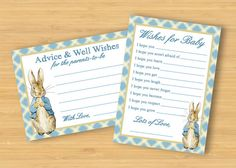 Peter Rabbit Baby Shower games  Wishes for Baby by littleforests