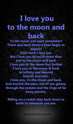 I Love You To The Moon And Back Quotes Will Love You To The Moon