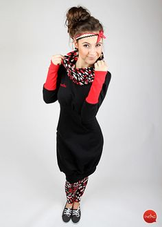Knielange Kleider - MEKO Kleid 'LENY_1M02' - ein Designerstück von meko bei DaWanda