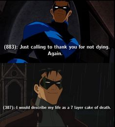 Jason Todd, Red Hood, Nightwing Dick Grayson. Batfam Texts