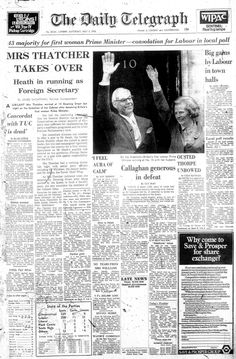 Twitter / Telegraph: Our front page from 5 May 1979: ...