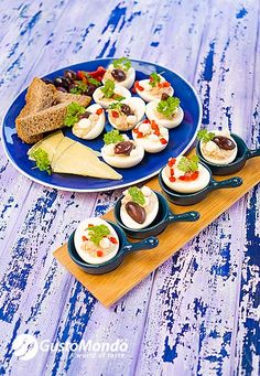 Probably adapted from other cuisines, this Romanian deviled eggs recipe contains smooth rich liver, mayo, herbs and spices. Something different but tasty. Stuffed Eggs, Deviled Eggs Recipe, Egg Recipes, Bacon, Spices, Tasty, Herbs, Kitchens, Hard Boiled Eggs Recipe