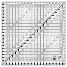 Easy to read on light and dark fabrics. Creative Grids Quilt Ruler 20-1/2 inch Square