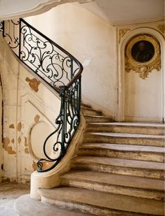 shabby palace staircase