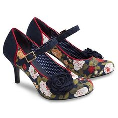 Joe Browns Multi coloured remarkable floral mary jane shoes-   Debenhams