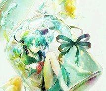 Inspiring image anime, bottle, cute, drawing, girl, manga, painting #4060980 by…