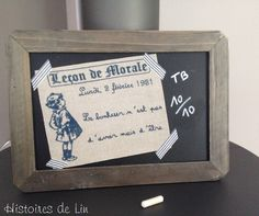 Leçon de morale-moral lesson-tableau noir-école-school-cross stitch-Point de croix-punto de cruz-Embroidery