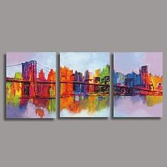 Hand Painted Oil Painting Modern Abstract with Stretched Frame Set of 3 Paint And Sip, Online Painting, Oil Painting Abstract, House Painting, Decoration, Art Photography, Artsy, Hand Painted, Wall Art