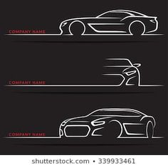 Find Set of vintage classic sports car silhouettes, outlines, contours isolated on dark background. Vector illustration Stock Images in HD and millions of other royalty-free stock photos, illustrations, and vectors in the Shutterstock collection. Classic Sports Cars, Automotive Logo, Automotive Design, Car Animation, Car Side View, Car Wash Business, Car Silhouette, Car Ui, Beautiful Love Pictures