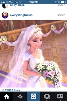 Elsa. If she were to get married jack would be her groom.