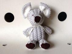 Doudou koala rétro avec ses torsades fait main : Jeux, peluches, doudous par vegetaldoudou