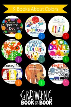Books for Kids:  Color Books from growingbookbybook.com