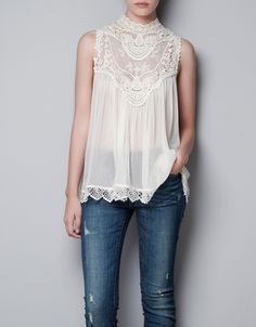 be90d60b23154a Lace   sheer - Minha Wish List  Zara