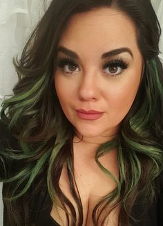 Best hair color ideas to get the right color for yourself green green hair haircolor brown hair peekaboos extensions tape ins pmusecretfo Image collections