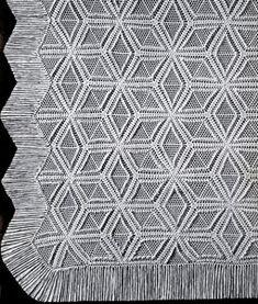 NEW! Pinwheel Popcorn Bedspread crochet pattern from Heirloom Spreads, Volume 49.