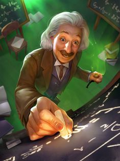 Albert Einstein for STEM:Epic Heroes on Behance Drawing Cartoon Faces, Wreath Drawing, Perspective Art, Animation, Science Art, Cartoon Wallpaper, Anime Art Girl, Art Sketchbook, Storyboard