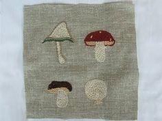 embroidery - mushrooms