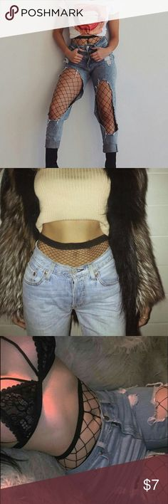 Fishnet stockings Fishnet stockings . Very fashionable under ripped jeans or having it show through . Very trendy right now . Adds an edgy look to any boring outfit . Brand new , never been worn Pants Leggings