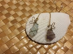 "Sea glass ""Pu'uwai ""earrings"