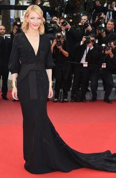 Cate Blanchett wears Giorgio Armani at the premiere for Sicario at the Cannes Film Festival. Picture / Supplied.