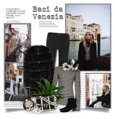 """""""Baci Da Venezia"""" by thewondersoffashion ❤ liked on Polyvore featuring J Brand, Givenchy, Proenza Schouler, Yves Saint Laurent, Masquerade and Kenzo"""