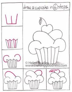 Image result for how to draw a cupcake