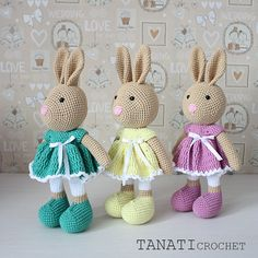 Crochet Pattern of Candy BUNNY Amigurumi tutorial PDF file
