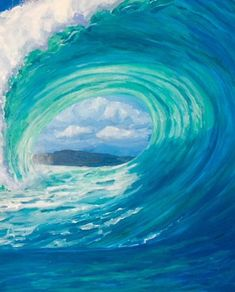 Surf art, turquoise and blue wave. Giclee print on canvas, framed with recycled barn wood. Framed size is x Ask about custom sizes! Ocean Art, Ocean Waves, Color Changing Light Bulb, Colored Light Bulbs, Waves Photography, Photography Ideas, Light Turquoise, Turquoise Color, Turquoise Chandelier