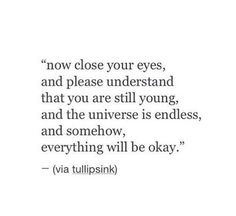 And somehow everything will be okay....