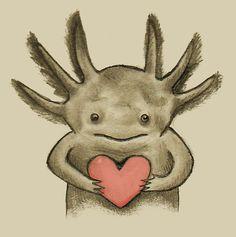 Axolotl Love ♥ by Earth-Gnome